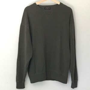 Men's Charter Club Olive Green Cashmere Sweater M